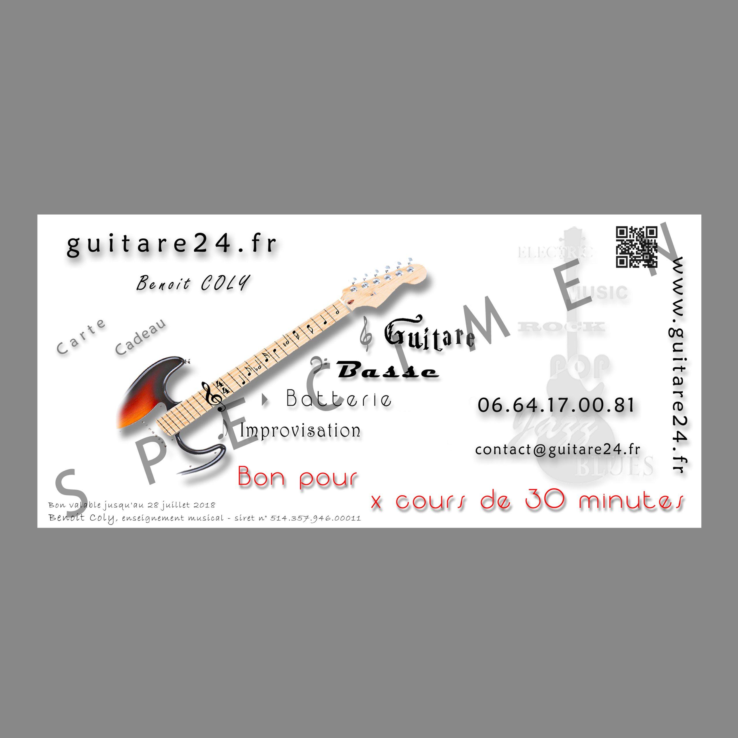 Carte Cadeau Cours